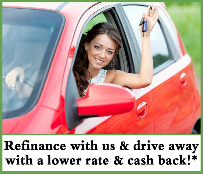 Refinance with us & drive away with a lower rate & cash back!*